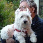 Mann mit Hund, unser Sängerkollege Ron