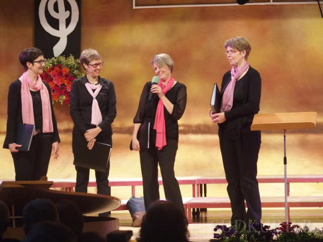 Gut bei Stimme: die vier Solistinnen (v.l.) Marina Wurst, Bettina Gemar, Tanja Merkle und Elisabeth Häberle. | Bild: Gudrun Schäfer-Burmeister